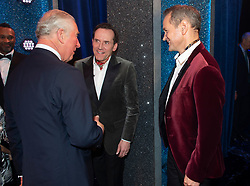 Embargoed to 0001 Tuesday November 13 The Prince of Wales talks to Armstrong and Miller after the We Are Most Amused and Amazed performance at the London Palladium.