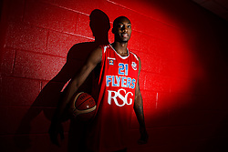 Tyrone Lee poses after joining the Bristol Flyers - Mandatory byline: Rogan Thomson/JMP - 07966 386802 - 06/10/2015 - BASKETBALL - SGS Wise Arena - Bristol, England - Bristol Flyers New Signing.