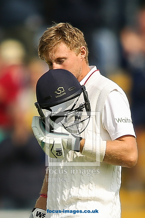 Joe Root of England celebrates his century during the Investec Ashes Series Test Match at Sophia Gardens, Cardiff<br /> Picture by Andy Kearns/Focus Images Ltd 0781 864 4264<br /> 08/07/2015