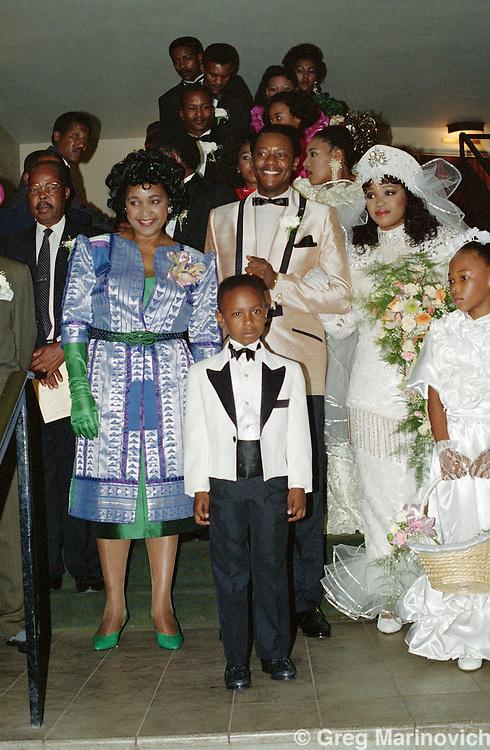 Nelson Mandela At The Wedding Of Zinzi And Zweli Hlongwane