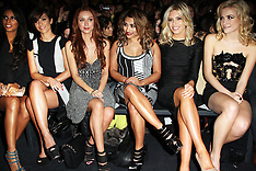 FEB 16 2013 Pixie Lott and The Saturdays at London Fashion Week A/W 13