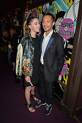 VISCOUNT MACMILLAN and DAISY BOYD at Hoping's Greatest Hits - the 10th Anniversary of The Hoping Foundation's charity benefit held at Ronnie Scott's, 47 Frith Street, Soho, London on 16th June 2016.