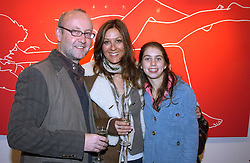Left to right, SEBASTIAN SAINSBURY, CARMAN DUDLEY and her daughter NATASHA DUDLEY at a private view of artist Natasha Law's work entitled 'Hold' held at Eleven, 11 Eccleston Street, London SW1 on 12th January 2006.<br /><br />NON EXCLUSIVE - WORLD RIGHTS