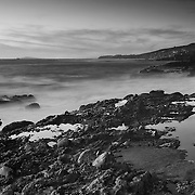 Victoria Beach Tide Pools - Laguna View - Dusk - Black & White