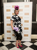 30/07/2015 report free :   Elaine Wynne, Kildare at the 4 star Hotel Meyrick's Most Stylish Lady competition, for Ladies Day Galway Race week 2015, Judges were by leading Irish Model Rozanna Purcell,  Mandy Maher Catwalk Models and Mary Lee , Model The winners received an amazing €2,000 prize package from Fallers of Galway . Photo:Andrew Downes, xposure