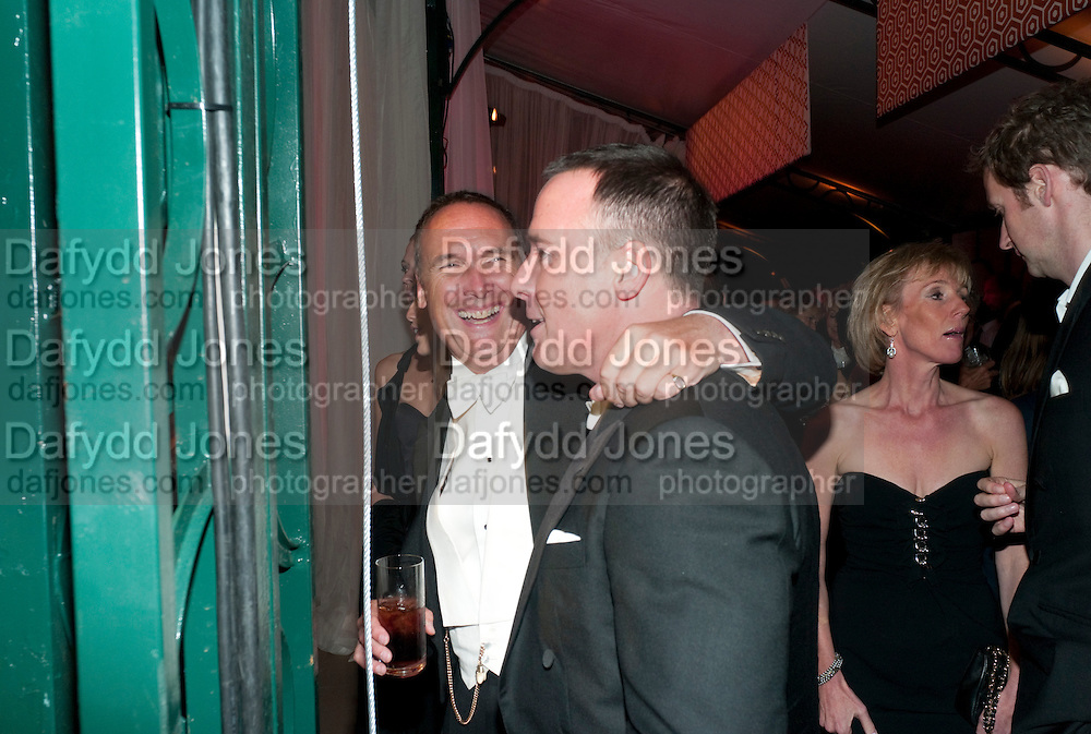 A.A.GILL; DAVID FURNISH, Evgeny Lebedev and Graydon Carter hosted the Raisa Gorbachev charity Foundation Gala, Stud House, Hampton Court, London. 22 September 2011. <br /> <br />  , -DO NOT ARCHIVE-© Copyright Photograph by Dafydd Jones. 248 Clapham Rd. London SW9 0PZ. Tel 0207 820 0771. www.dafjones.com.