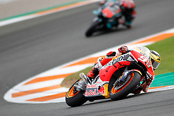 November 17, 2019, Cheste, VALENCIA, SPAIN: Marc Marquez, rider of Repsol Honda Team from Spain, rounds the bend during the MotoGP Race of the Valencia Grand Prix of MotoGP World Championship celebrated at Circuit Ricardo Tormo on November 16, 2019, in Cheste, Spain. (Credit Image: © AFP7 via ZUMA Wire)