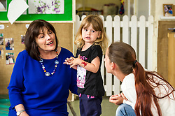 Pictured: Jeane Freeman had a long chat to Sarah Allan (aged four) and her mother Michaela<br /> Today social security minister Jeane Freeman MSP visited voluntary organisation  Stepping Stones (North Edinburgh), a group which helps young parent families and pregnant women, and met parents and children. The visit marked the introduction of the first Social Security (Scotland) Bill.<br /> Ger Harley | EEm 21 June  2017