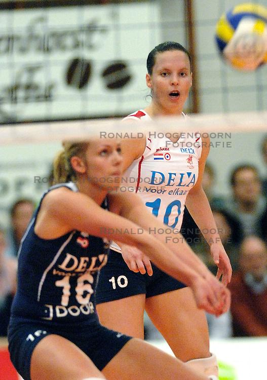 21-01-2007 VOLLEYBAL: PLANTINA LONGA - DELA MARTINUS: ZIEUWENT <br /> In een aantrekkelijke wedstrijd verliest Longa met 3-1 van Martinus / Janneke van Tienen<br /> &copy;2007-WWW.FOTOHOOGENDOORN.NL