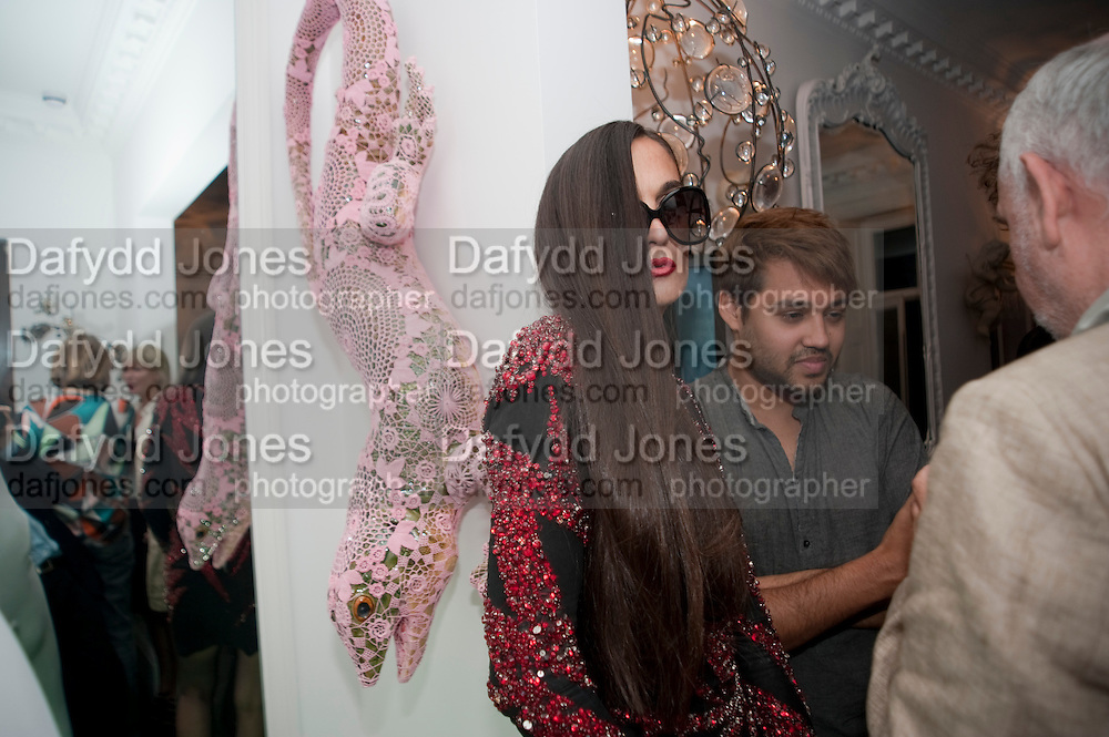 RUSHKA BERGMAN; PABLO GANGULI, Party at the home of Amanda Eliasch in Chelsea after the opening of As I Like it. A memory by Amanda Eliasch and Lyall Watson. Chelsea Theatre. Worl's End. London. 4 July 2010<br /> <br />  , -DO NOT ARCHIVE-© Copyright Photograph by Dafydd Jones. 248 Clapham Rd. London SW9 0PZ. Tel 0207 820 0771. www.dafjones.com.