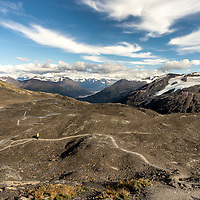 The Long and Winding Trail that leads to the Harding Icefield in Kenai Fjords NP, Alaska