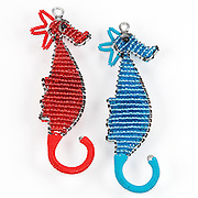Seahorses; Red; Blue