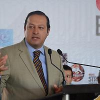 Metepec, México (Septiembre 20, 2016).- José Luis Velasco Lino, delegado de Economía en el Edo Mex, durante la inauguración de la Expo Metepec Contigo Emprende. Agencia MVT / Arturo Hernández.