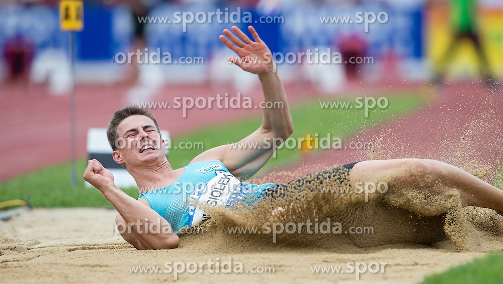 28.05.2016, Moeslestadion, Goetzis, AUT, 42. Hypo Meeting Goetzis 2016, Zehnkampf der Herren, Weitsprung, im Bild Pawel Wiesiolek (POL) // Pawel Wiesiolek of Poland during the Long jump event of the Decathlon competition at the 42th Hypo Meeting at the Moeslestadion in Goetzis, Austria on 2016/05/28. EXPA Pictures © 2016, PhotoCredit: EXPA/ Peter Rinderer