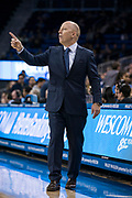 UCLA Bruins head coach Mick Cronin directs his team against the San Jose State Spartans during an NCAA college basketball game, Sunday, Dec. 1, 2019, in Los Angeles. UCLA defeated San Jose State 93-64. (Jon Endow/Image of Sport)