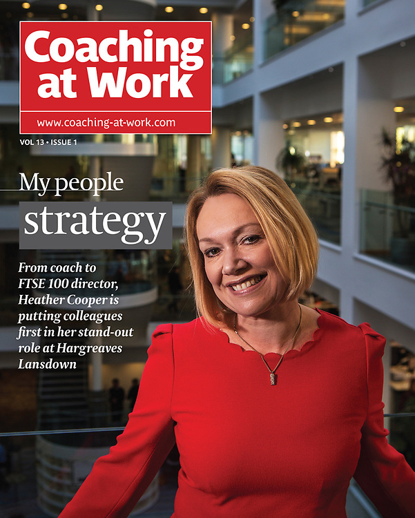 Heather Cooper, director at Hargreaves Lansdown, Bristol.<br /> <br /> Commissioned by 'Coaching at Work' magazine.
