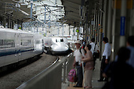 TREVOR HAGAN - A Shinkansen pulls into Kyoto Station. Kyoto, Japan..August 20, 2008