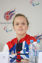 © London News Pictures. 27/08/2012. Ellie Simmonds MBE. Press call at ParalympicGB House in Stratford. Photo credit should read Manu Palomeque/LNP