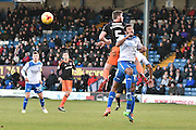 Bury Midfielder, Tom Soares (19) and Sheffield United Defender Jack O'Connell (5) during the EFL Sky Bet League 1 match between Bury and Sheffield Utd at the JD Stadium, Bury, England on 2 January 2017. Photo by Mark Pollitt.
