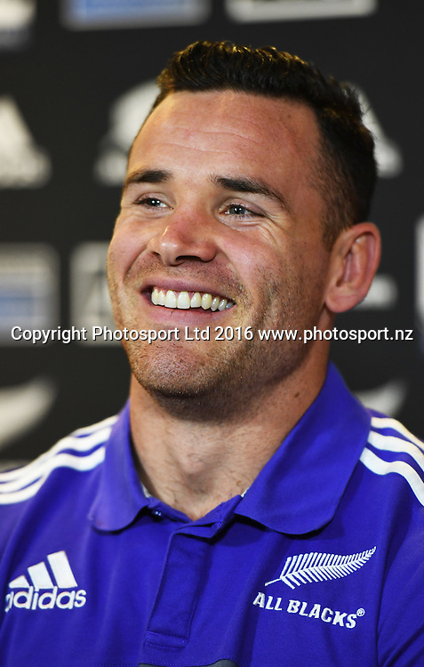 Ryan Crotty during an All Blacks press conference in Hamilton ahead of the The Rugby Championship test match against Argentina. Thursday 8 September 2016. © Copyright Photo: Andrew Cornaga / www.Photosport.nz