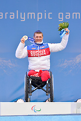 1km Sprint Medal Ceremony at the 2014 Sochi Winter Paralympic Games, Russia