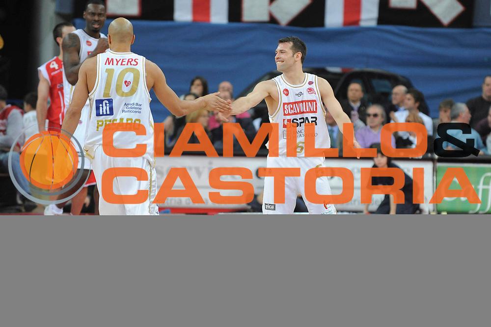 DESCRIZIONE : Pesaro Lega A 2008-09 Scavolini Spar Pesaro Bancatercas Teramo<br /> GIOCATORE : Maximiliano Stanic<br /> SQUADRA : Scavolini Spar Pesaro<br /> EVENTO : Campionato Lega A 2008-2009<br /> GARA : Scavolini Spar Pesaro Bancatercas Teramo<br /> DATA : 22/03/2009<br /> CATEGORIA : Esultanza<br /> SPORT : Pallacanestro<br /> AUTORE : Agenzia Ciamillo-Castoria/G.Ciamillo