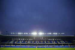 LIVERPOOL, ENGLAND - Wednesday, October 18, 2017: Everton's Goodison Park Bullens Road stand ahead of the UEFA Europa League Group E match between Everton and Olympique Lyonnais. (Pic by David Rawcliffe/Propaganda)