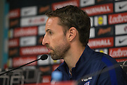 England Caretaker Manager Gareth Southgate during the England Press Conference at Stadion Stozce , Ljubljana, Slovenia on 10 October 2016. Photo by Phil Duncan.