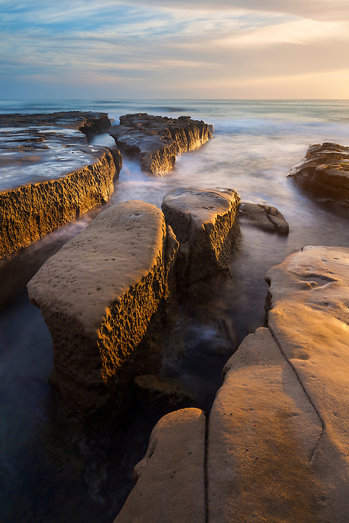 La Jolla Tide Pools - Rock Islands - Sunset