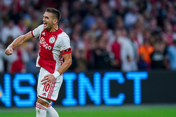 13-08-2019 NED: UEFA Champions League AFC Ajax - Paok Saloniki, Amsterdam<br />  Ajax won 3-2 and they will meet APOEL in the battle for a group stage spot / Dusan Tadic #10 of Ajax scores 1-1
