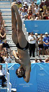 Canadian diver Alexandre Despatie dives during the preliminary round of the men's 3M springboard competition at the FINA World Championships in Montreal, Quebec Tuesday 19 July, 2005.