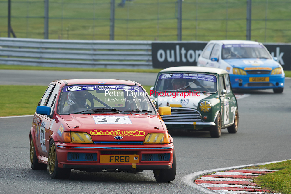 #37 Brian ALLEN Ford Fiesta XR2i during CNC Heads Sports/Saloon Championship - Race 2  as part of the BARC Championships Race Day at Oulton Park, Little Budworth, Cheshire, United Kingdom. October 03 2015. World Copyright Taylor/PSP. Copy of publication required for printed pictures.  Every used picture is fee-liable. http://archive.petertaylor-photographic.co.uk