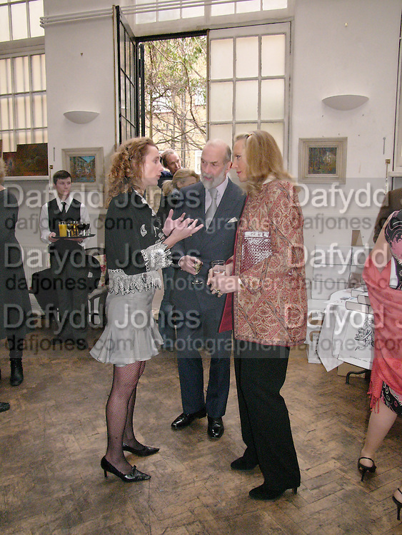 Emma Sergeant ( Zamoyski) with Prince and Princess Michael of Kent, 1812 Napoleon's Fatal March on Moscow by Adam Zamoyski book launch. Avenue Studios. Fulham Rd. 5 April 2004. ONE TIME USE ONLY - DO NOT ARCHIVE  © Copyright Photograph by Dafydd Jones 66 Stockwell Park Rd. London SW9 0DA Tel 020 7733 0108 www.dafjones.com