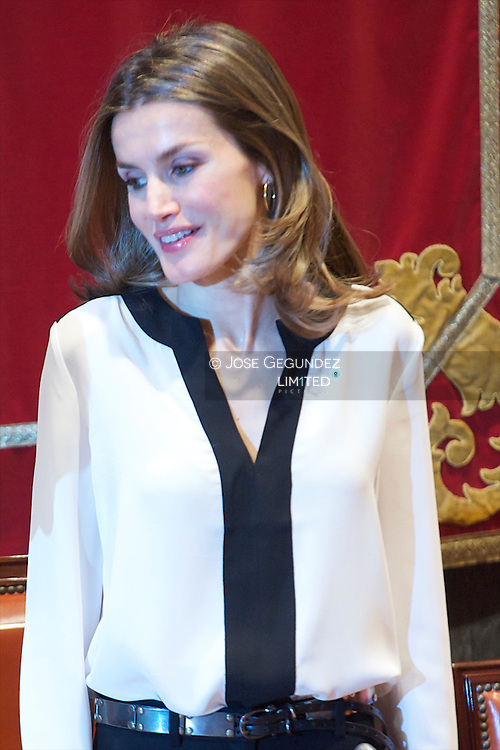"Princess Letizia attends the Official event of the ""World Day for Rare Diseases"" at Headquarters of the Supreme Judicial Council in Madrid"