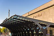 A close-up of the Forum building in Copenhagen.