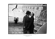 A farewell kiss at Dublin Airport.<br />