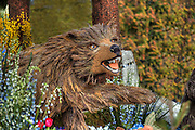Floats New Year's Day Tournament of Roses Parade, flower-decorated floats are required to be covered with plant material, living or dead. Visit http://david-zanzinger.artistwebsites.com/ for galleries