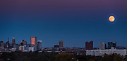Supermoon Over Baltimore Skyline