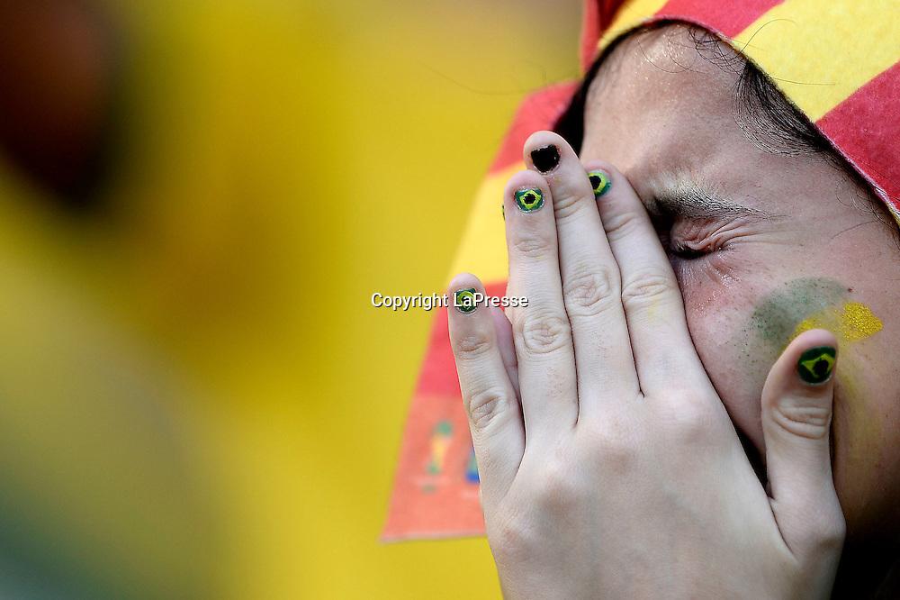 foto Fabio Ferrari - LaPresse<br /> 28 06 2014 Rio de Janeiro (Brasile)<br /> sport, calcio<br /> Mondiali 2014 - Colombia vs Uruguay - Ottavi di Finale - Stadio Maracana' di Rio de Janeiro.<br /> nella foto: tifosi<br /> <br /> photo Fabio Ferrari - LaPresse<br /> 28 06 2014 Rio de Janeiro (Brasile)<br /> sport, soccer<br /> World Cup 2014 - Colombia vs Uruguay - Round of 16 - Stadio Maracana' of Rio de Janeiro.<br /> in the picture: supporter