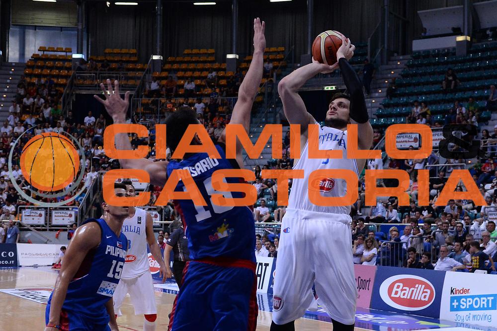 Bologna 26 Giugno 2016<br /> BASKET Basketball tournament city<br /> Italia Filippine<br /> NELLA FOTO Alessandro Gentile<br /> FOTO CIAMILLO