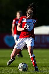 Carla Humphrey of Bristol City runs with the ball as her hair covers her face - Mandatory by-line: Robbie Stephenson/JMP - 24/03/2019 - FOOTBALL - Stoke Gifford Stadium - Bristol, England - Bristol City Women v Everton Ladies - FA Women's Super League