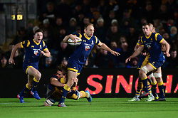 Chris Pennell of Worcester Warriors is tackled - Mandatory by-line: Dougie Allward/JMP - 04/11/2016 - RUGBY - Sixways Stadium - Worcester, England - Worcester Warriors v Bristol Rugby - Anglo Welsh Cup