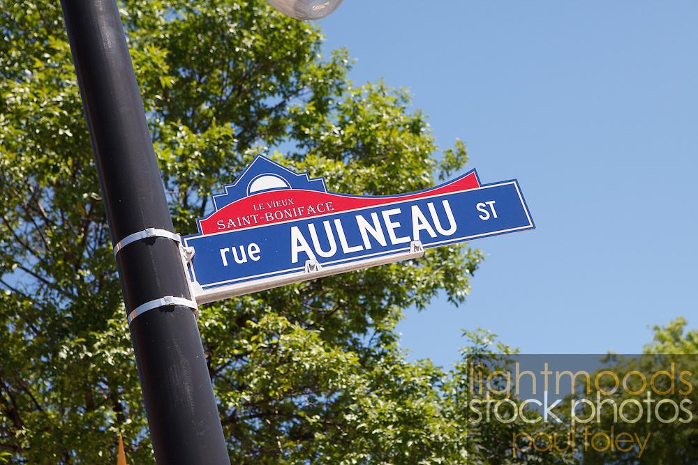 Saint-Boniface streetscapes, Winnipeg, Canada.