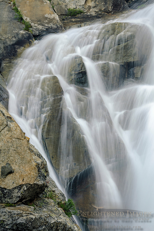 Detail of Horsetail Falls along Pyramid Creek, Deoslation Wilderness, El Dorado County, California