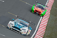 #2 Ahmad Al Harthy/Daniel Lloyd - Oman Racing Team, Aston Martin Vantage GT3, Silver Cup during second practice for the Avon Tyers British GT Championship as part of the British GT Championship at Oulton Park, Little Budworth, Cheshire, United Kingdom. April 04 2015. World Copyright Peter Taylor/PSP. Copy of publication required for printed pictures.  Every used picture is fee-liable.http://archive.petertaylor-photographic.co.uk