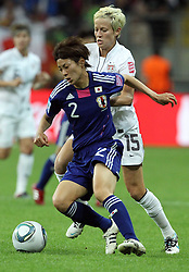 17.07.2011, Commerzbankarena, Frankfurt, GER, FIFA Women Worldcup 2011, Finale,  Japan (JPN) vs. USA (USA), im Bild:  .Zweikampf zwischen Yukari Kinga (Japan) (L) gegen Megan Rapinoe (USA) (R).. // during the FIFA Women Worldcup 2011, final, Japan vs USA on 2011/07/11, FIFA Frauen-WM-Stadion Frankfurt, Frankfurt, Germany.   EXPA Pictures © 2011, PhotoCredit: EXPA/ nph/  Mueller       ****** out of GER / CRO  / BEL ******