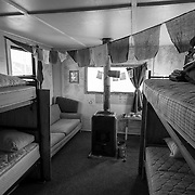 """Well signed bunkhouse at Black Island. If you watch the film """"Antarctica: A Year on the Ice"""" you will see this bunk house when the film maker, Anthony Powell, visits Black Island in the winter, and the entire inside of this bunk house is filled with snow and ice."""