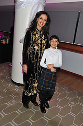 Actress SHIVANI WAZIR PASRICH and her daughter AYESHA PASRICH at a private view of photographs by Joanna Vestey entitled 'Dreams For My Daughter' in aid of The White Ribbon Alliance, held at The Royal Festival Hall, South Bank, London on 8th March 2012.