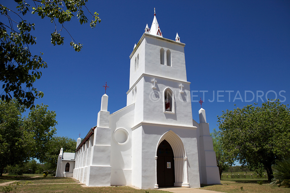Beagle Bay church features a Pearl shell altar which is now a tourist attraction. Beagle Bay is a small Aboriginal community in Western Australia, on the western side of the Dampier Peninsula, north of Broome.<br />