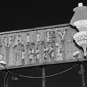 Valley Inn Sign - Kingsburg, CA - Highway 99 - Infrared Black & White